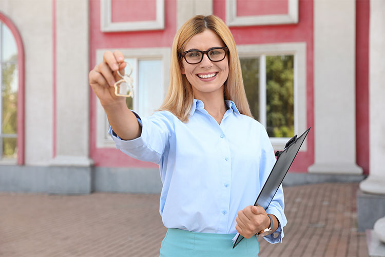 real estate agent with keys tax