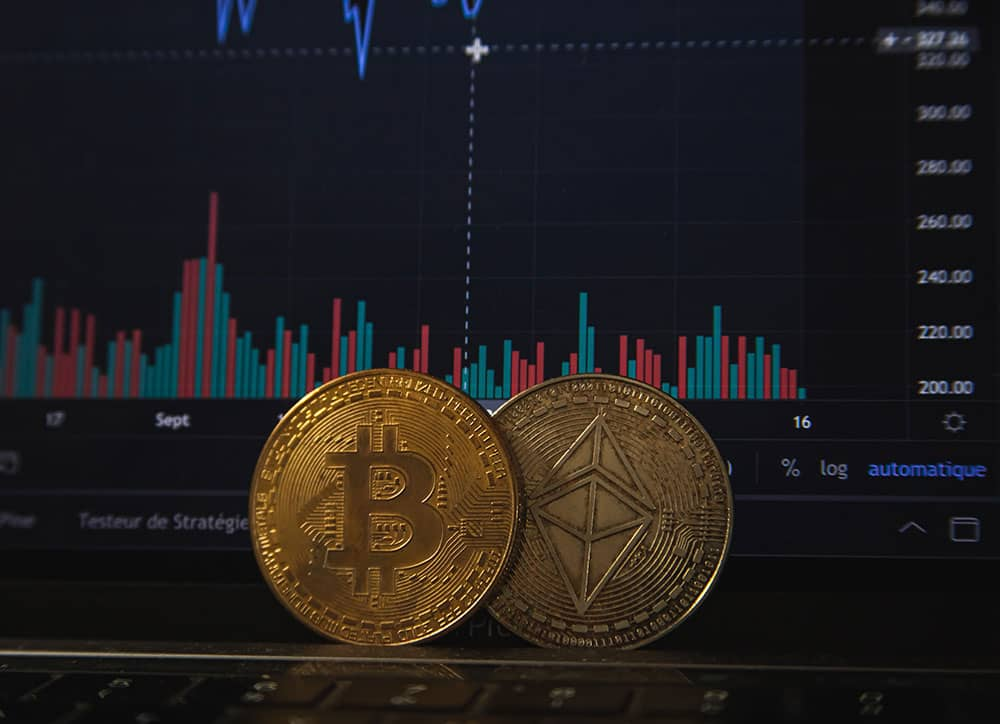 bitcoin and ethereum coins